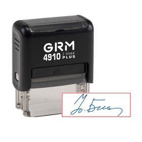 Изготовление факсимиле на автоматической оснастке -  GRM 4910 plus