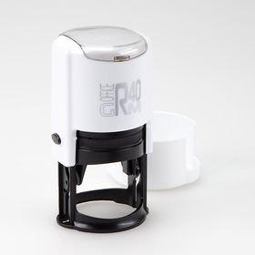 GRM R 40 office+BOX - Black Edition. Автоматическая оснастка для печати, корпус бело-чёрный глянец